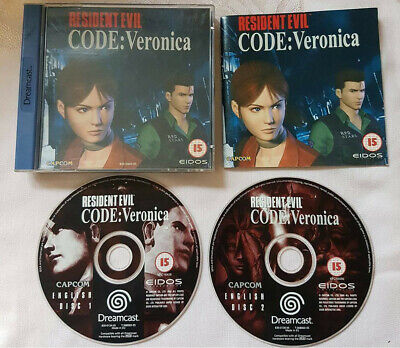 Resident Evil – Code: Veronica - SEGA Dreamcast PAL - Complete with Discs Manual