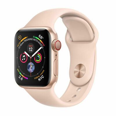 Apple Watch Series 4 40 mm Gold Aluminum with Pink Sand Sport Band (GPS + CELL)