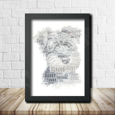 Mini Schnauzer 1 Sign Print Poster Word Art Gift Present Print Birthday Pet Dog