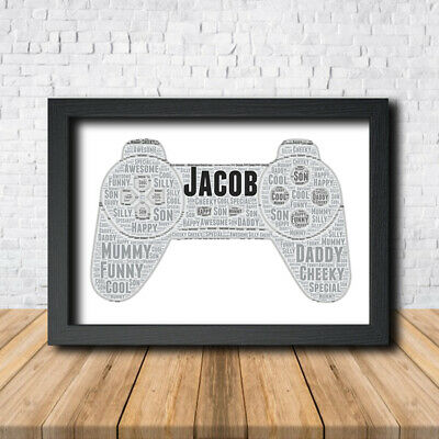 PlayStation controller Console Print Poster Word Art Gift Present Print Games