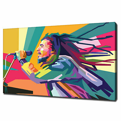 Bob Marley Pop Art Canvas Print Picture Wall Art Variety Of Sizes Free P&P