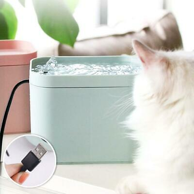 Pet Puppy Smart Water Dispenser Cat Dogs Automatic Water Fountain + USB Cable