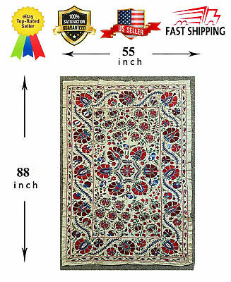Silk Uzbek Vintage Original Wall Hanging Beautiful Embroidery Handmade Suzani