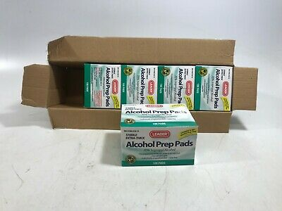 Leader Alcohol Swabs Sterile 70 Percent Isopropyl Alcohol 100 count - Lot of 5!