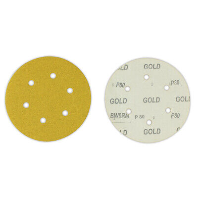 "100 Pack - 6"" Inch 6 Holes 800 Grit Hook & Loop Sanding Discs Orbital DA Disks"
