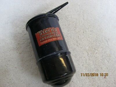Antique/Vintage Sterno Canned Metal Heat Vaporizer, 1920's Drug Store, Must See