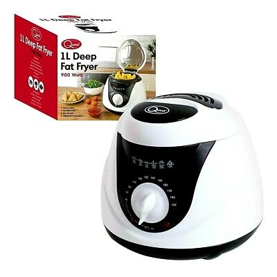 Quest Electric Mini Deep Fat Fryer, 1 Litre, 900 Watt, Fish Chip Non Stick Pan