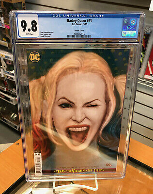 CGC 9.8 Harley Quinn 63 Frank Cho Year of The Villain Variant DC Comics