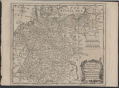 Germany - Antique Map of the Kingdom of Prussia by Thomas Kitchin c.1770