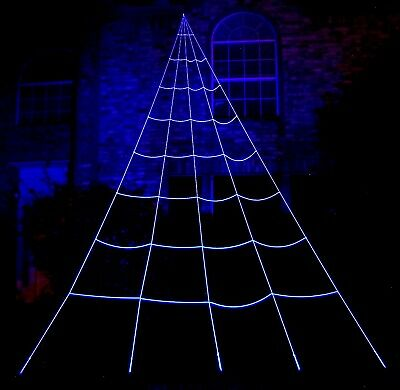 23' Multi-Ray GlowWeb Rope Spider Web Halloween House giant mega Prop Decoration