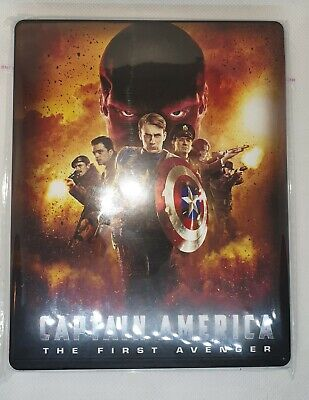Custom Steelbook Captain America First avenger Bluray Empty