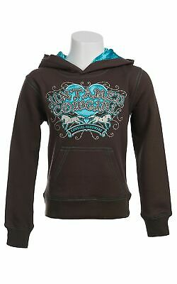 Cowgirl Hardware Brown Pullover Kids Girls Untamed Cowgirl Brown Size 2T