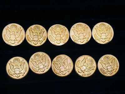 US Army Waterbury Button Co. Large Size Button Lot. FREE Shipping!
