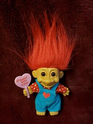 RUSS TROLL DOLL VALENTINE FOR YOU WITH HUGS /& KISSES NOTE CARD New RARE