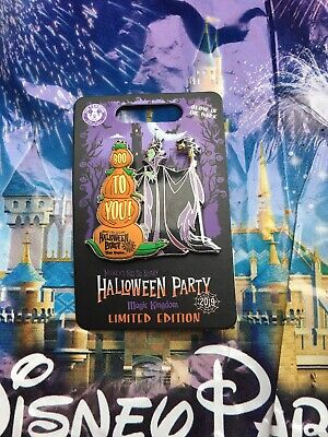 Disney Mickey's Not So Scary Halloween Party 2019 Maleficent LE Pin In Hand