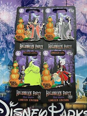 Disney Mickey's Not So Scary Halloween Party 2019 Set Of 4x LE Pin In Hand