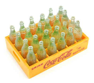 1950s Miniature Advertising Coca-Cola Case with 24 Plastic Mini Bottles