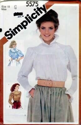 Uncut Sewing Pattern Ladies Asymmetrical Closing Shirt Blouse top Size 10. 1983