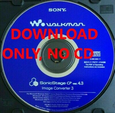 Sony SonicStage version 4.3 Software, for Sony Hi-MD NetMD Network MD players