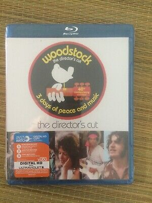 WOODSTOCK 3 Days Of Peace and Music Blu-Ray 40th Anniv Directors Cut Digital HD
