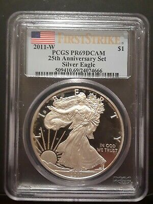 2011-W $1 1oz American Silver Eagle Proof PR69DCAM First Strike PCGS