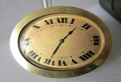 Beautiful Quality Art Deco Gilded Brass Clock from HOUR