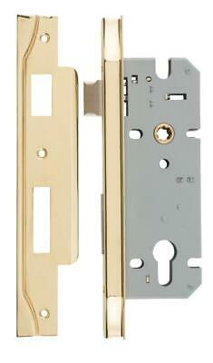 left handed rebated euro mortice lock 85 mm,range of finishes,45 mm backset