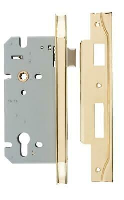 Right handed rebated euro mortice lock 85 mm,range of finishes,60 mm backset