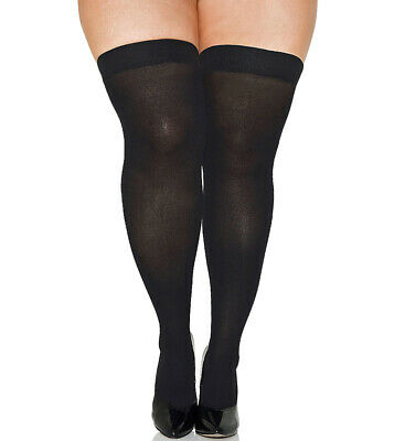 Ruffle Top Thigh Highs with Attached Lace Garter Belt Nylons Hosiery Black 1863