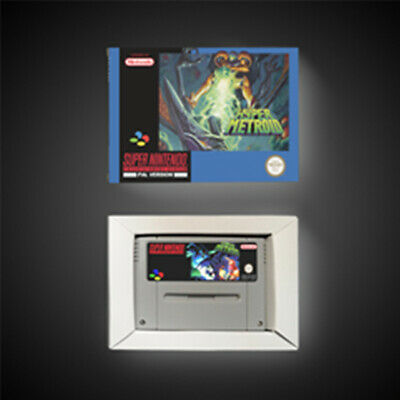 Hyper Metroid PAL EUR Version With Retail Box RPG Game Battery Save SNES Game
