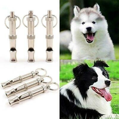 Adjustable Stainless Steel Sliver/Gold Pet Dog Training Whistle Obedience F4P5