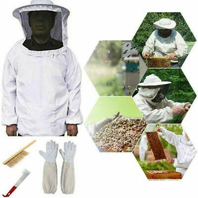 Beekeeping Suit Kit Heavy Duty Jacket Veil Gloves Bee Brush Hook Hive Super L9A4