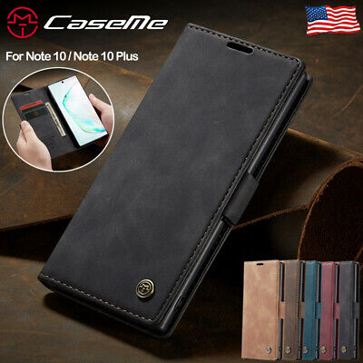 For Samsung Galaxy Note 10 Plus 5G Magnetic Leather Flip Wallet Phone Case Cover