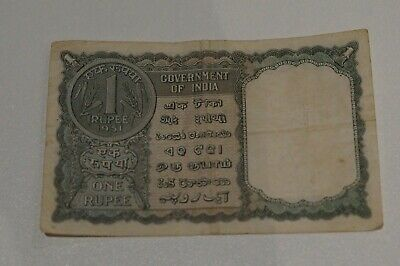 One Rupee Govt Of India 1951 Banknote