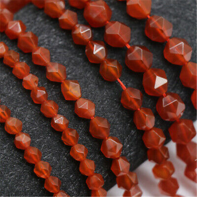 1pcs 10x16mm Natural Red Agate Section Loose Beads 15 inches Handmade Strand