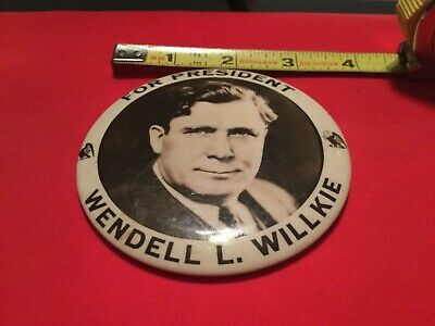 Large 1940 Political Campaign Pin - For President Wendell L. Willkie3