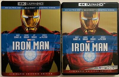 Disney Marvel Iron Man 4K Ultra Hd Blu Ray 2 Disc Set + Slipcover Sleeve Buyit
