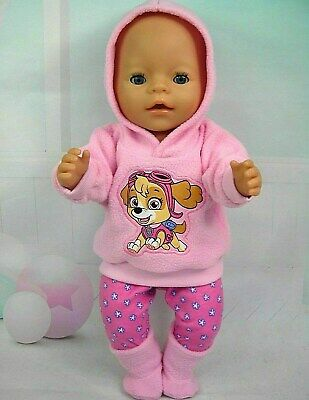 """Dolls clothes for 17"""" Baby Born doll~PAW PATROL SKYE~ PINK HOODIE/LEGGINGS/BOOTS"""