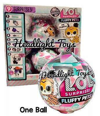 1 LOL Surprise FLUFFY PETS Winter Disco Ball Globe Doll Holiday OMG Preorder