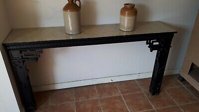Pair of 18th Century Style Ebonised Console Tables