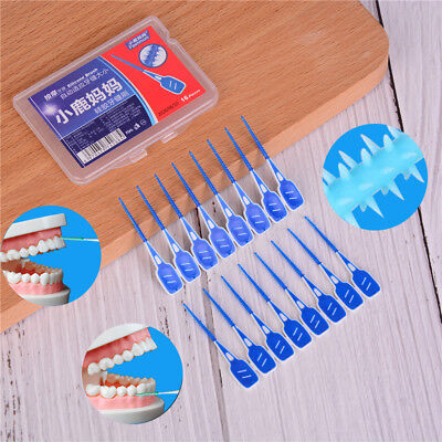 16X/lot cepillo interdental dental dientes dentales limpieza oral gel de síliceK