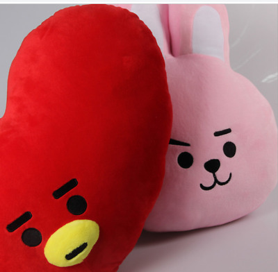 For KPOP BTS BT21 TATA SHOOKY Plush Toy SUGA COOKY Pillow Doll Bed Sofa Plush