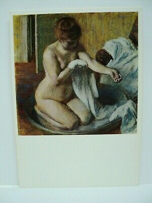 "Cpm Rppc Edgar Degas  ""Woman In A Tub""  Tate Gallery  London"