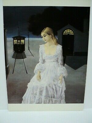 "Cpm Rppc Paul Delvaux Surrealisme ""La Robe De Mariee"" 1976  Collection Privee"