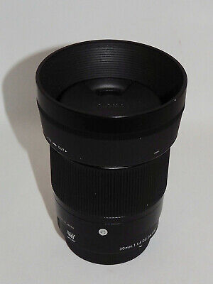 Sigma 30mm F1.4 DC DN Contemporary Lens and Hoya filter for micro four thirds