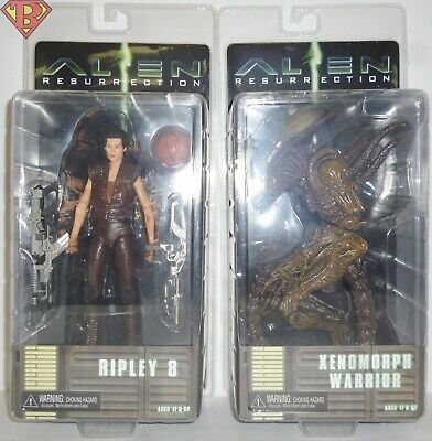 "RIPLEY 8 & XENOMORPH WARRIOR Alien Resurrection 7"" Figure Set of 2 Neca 2019"