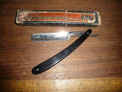 Antique boxed Sevair / N.A.P. Co  Cut throat razor in The Crown & Sword Box .