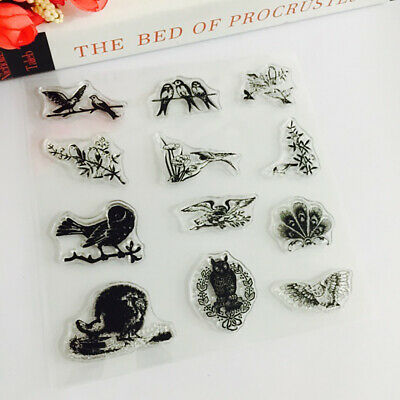 Various Birds Clear Transparent Silicone Stamp Rubber Stamps for DIY Scrapbook