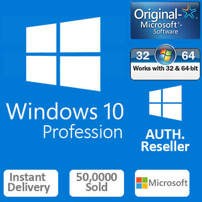Instant Windows 10 Pro 32 | 64-Bit Download Link Gene Activation Key License B