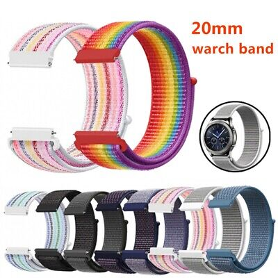 Nylon Woven Sport Loop Watch Band Strap For Samsung Galaxy Watch Active 42mm